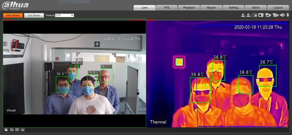 Dahua mesterséges intelligenciával ellátott hőkamerás testhőmérséklet-mérő rendszer